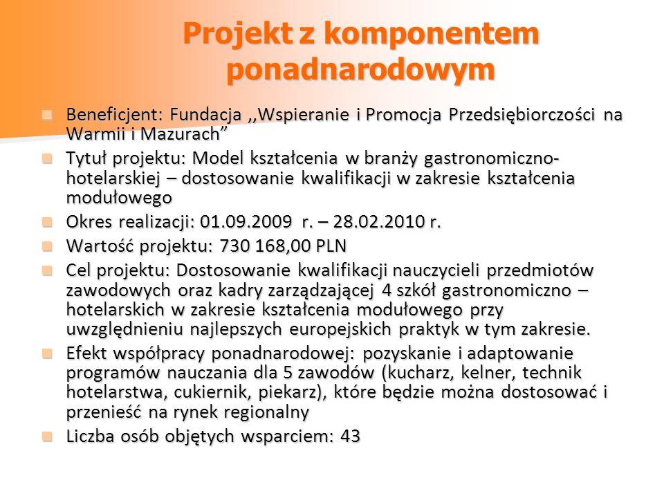 Projekt z komponentem ponadnarodowym