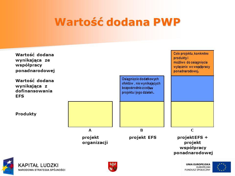 Wartość dodana PWP Wartość dodana wynikająca ze współpracy