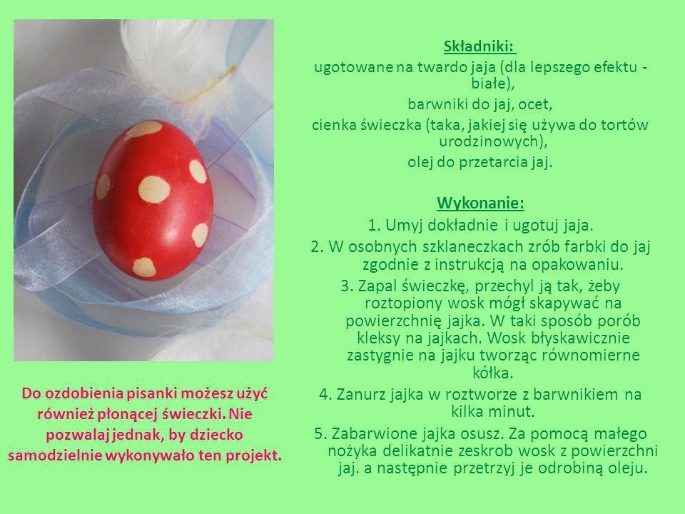 1. Umyj dokładnie i ugotuj jaja.