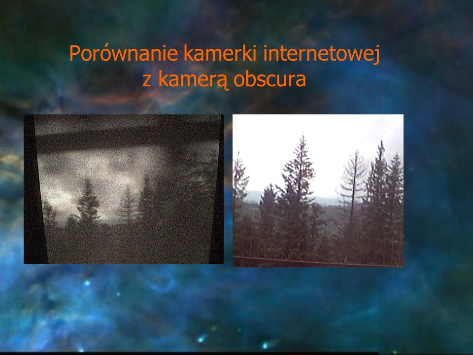 Porównanie kamerki internetowej z kamerą obscura