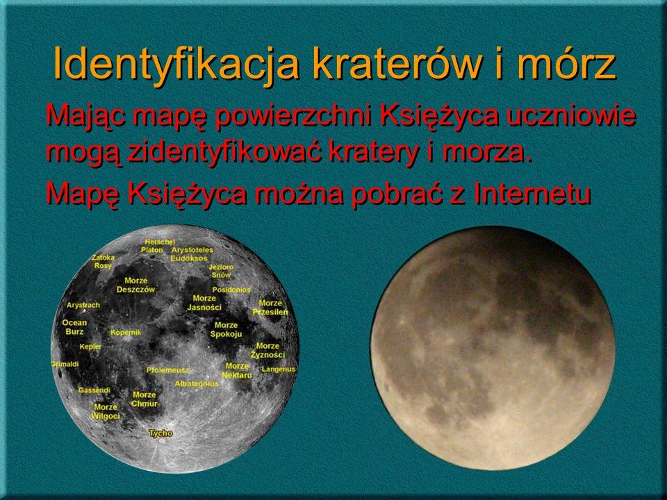 Identyfikacja kraterów i mórz
