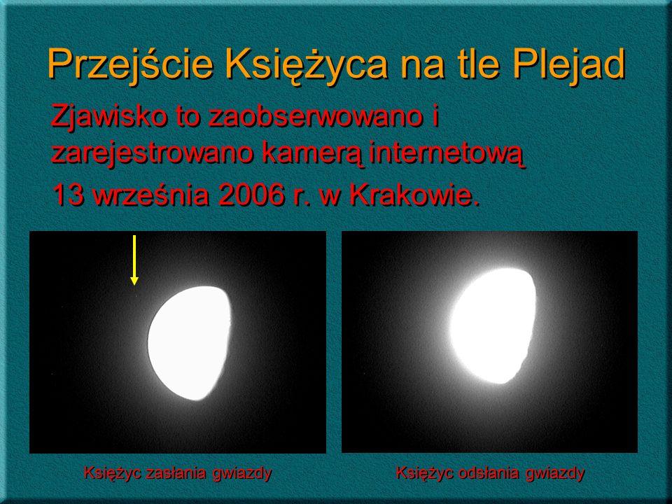 Przejście Księżyca na tle Plejad