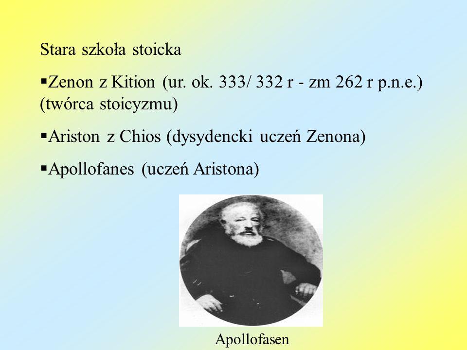 Ariston z Chios (dysydencki uczeń Zenona) Apollofanes (uczeń Aristona)