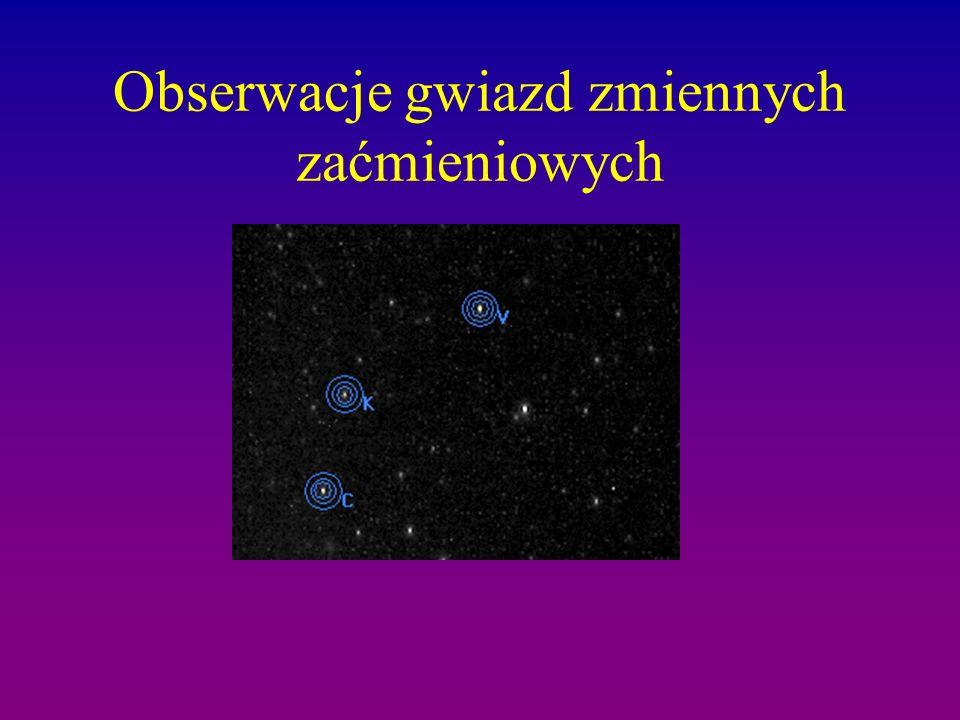 Obserwacje gwiazd zmiennych zaćmieniowych