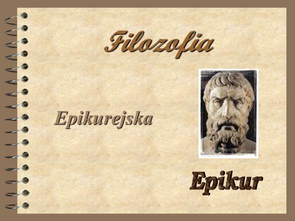 Filozofia Epikurejska Epikur