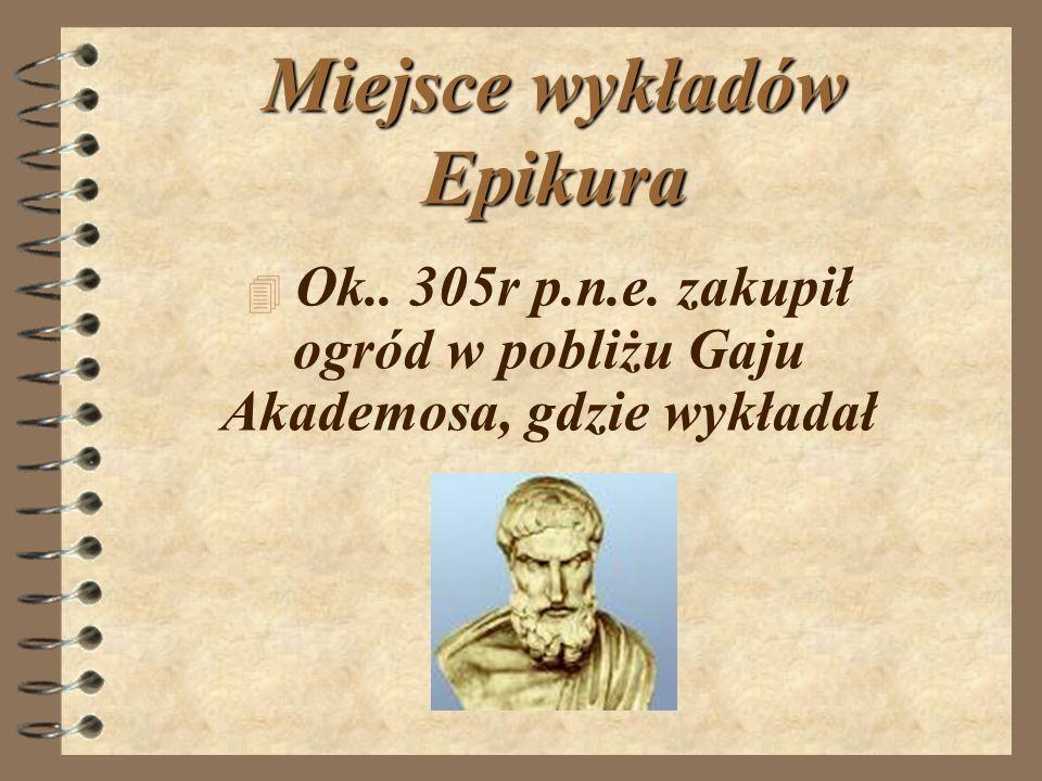 Miejsce wykładów Epikura