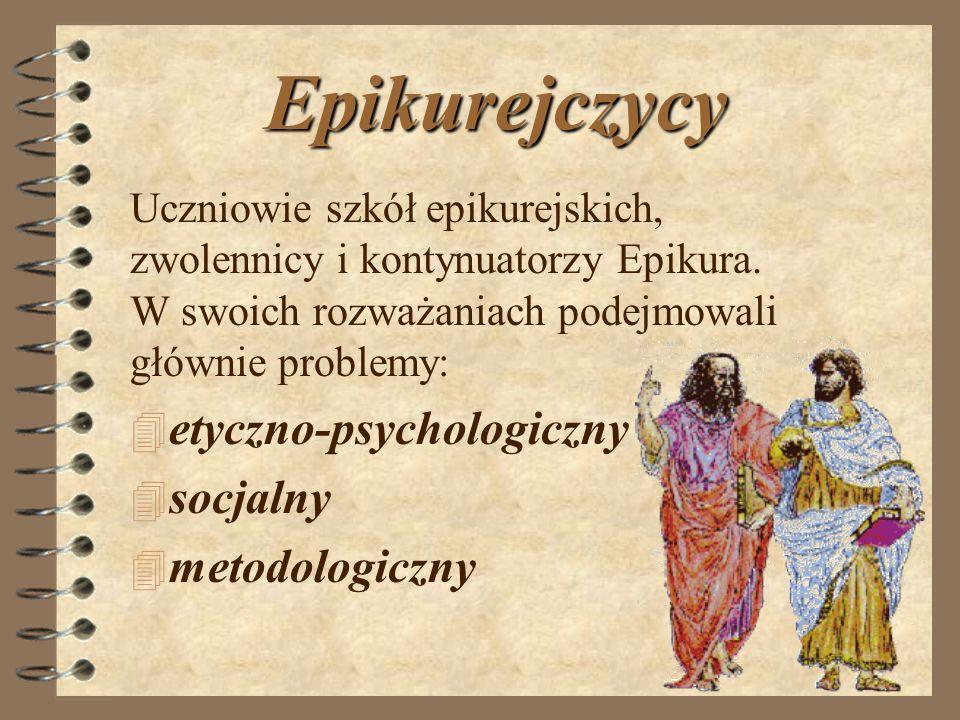 Epikurejczycy etyczno-psychologiczny socjalny metodologiczny