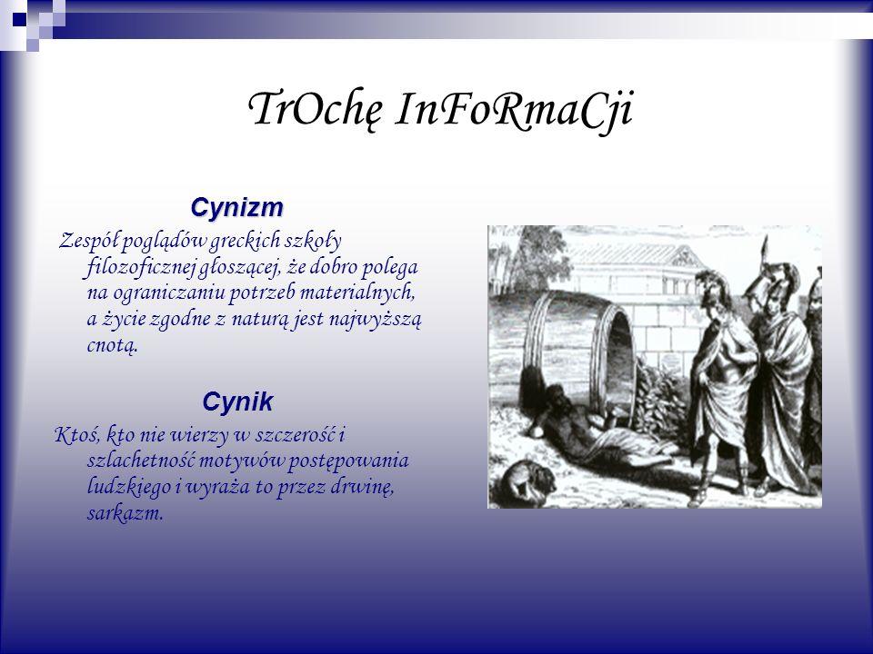 TrOchę InFoRmaCji Cynizm Cynik