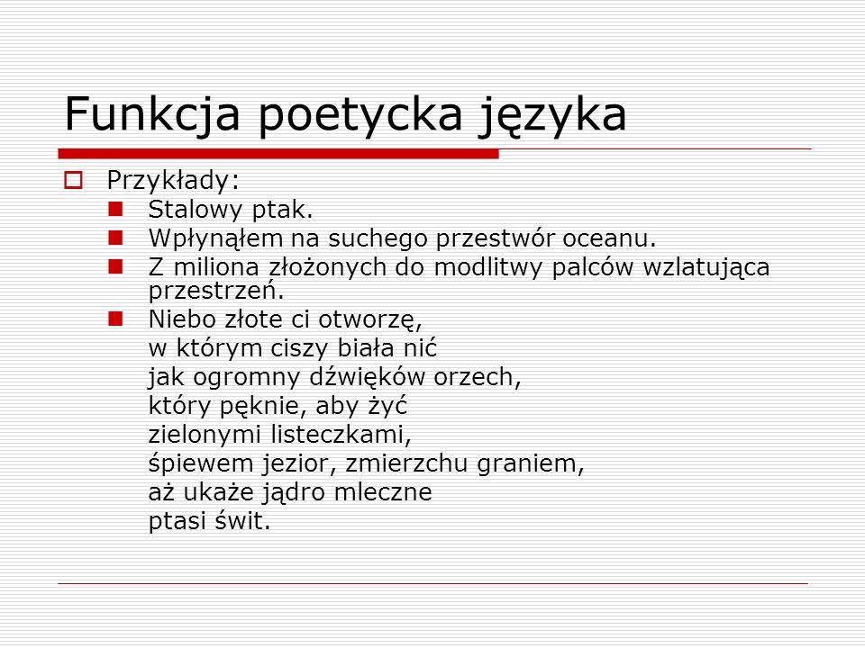 Funkcja poetycka języka