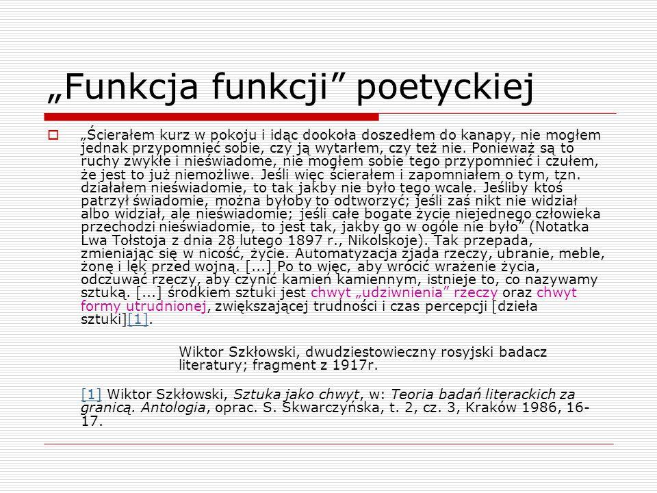 """Funkcja funkcji poetyckiej"