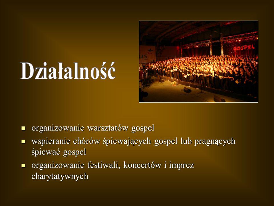 Działalność organizowanie warsztatów gospel