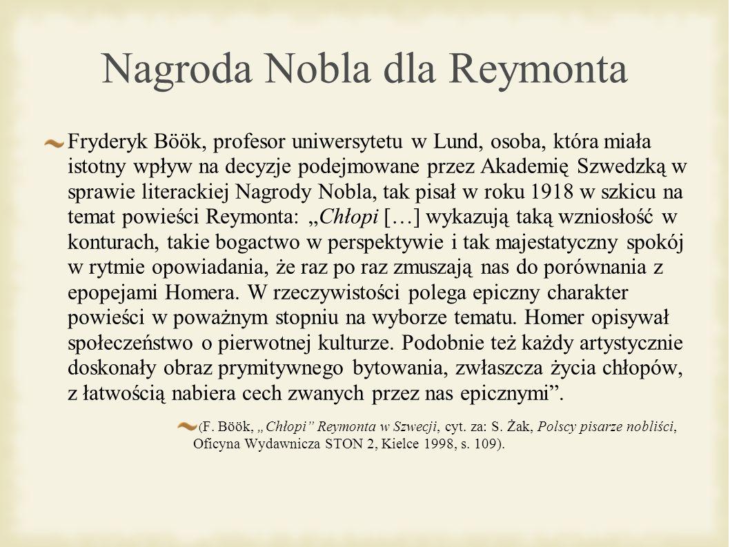 Nagroda Nobla dla Reymonta