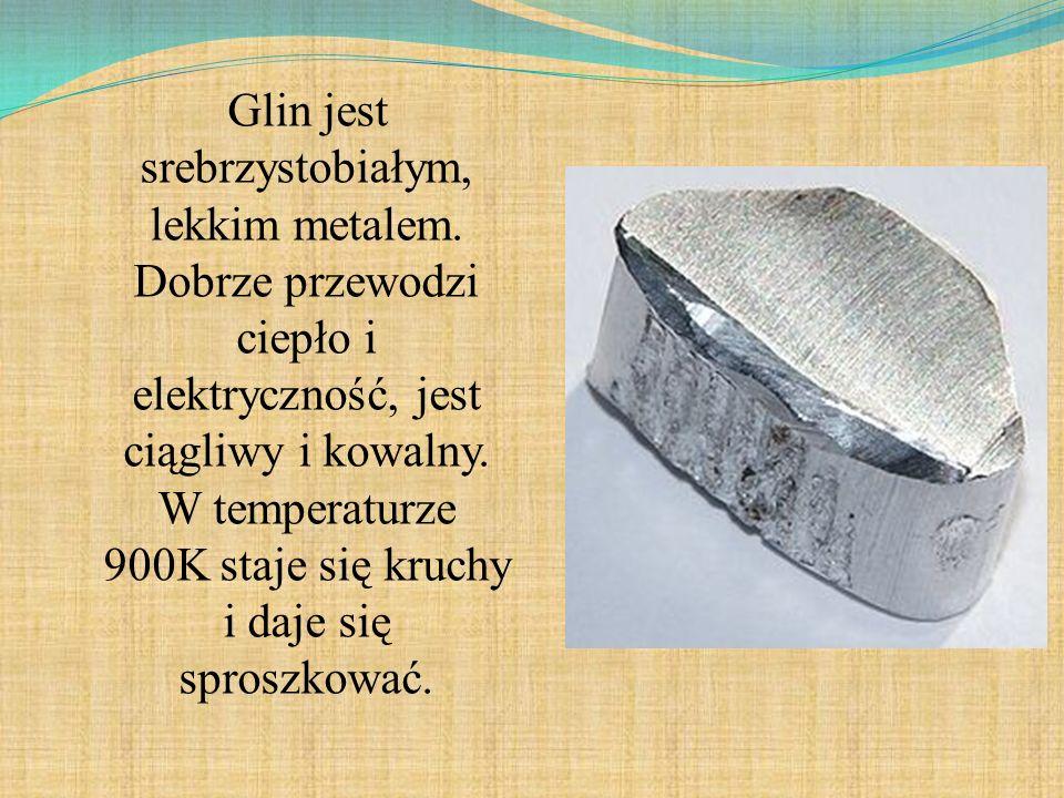 Glin jest srebrzystobiałym, lekkim metalem