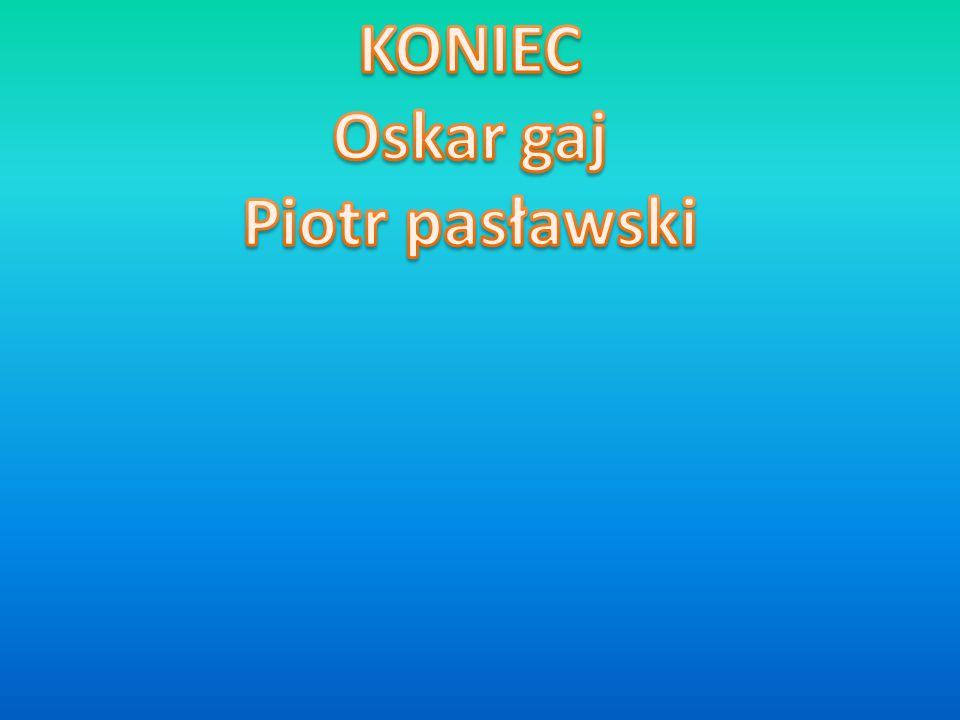 KONIEC Oskar gaj Piotr pasławski