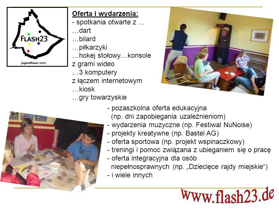www.flash23.de Oferta i wydarzenia: - spotkania otwarte z ... …dart