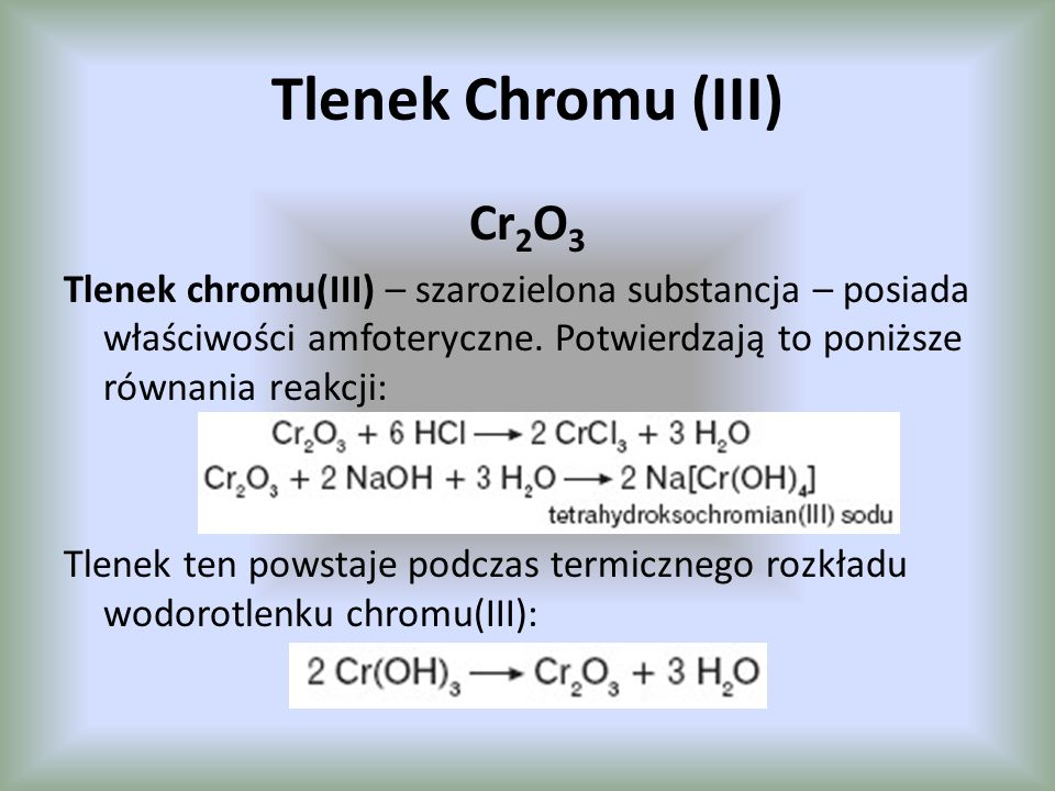 Tlenek Chromu (III) Cr2O3