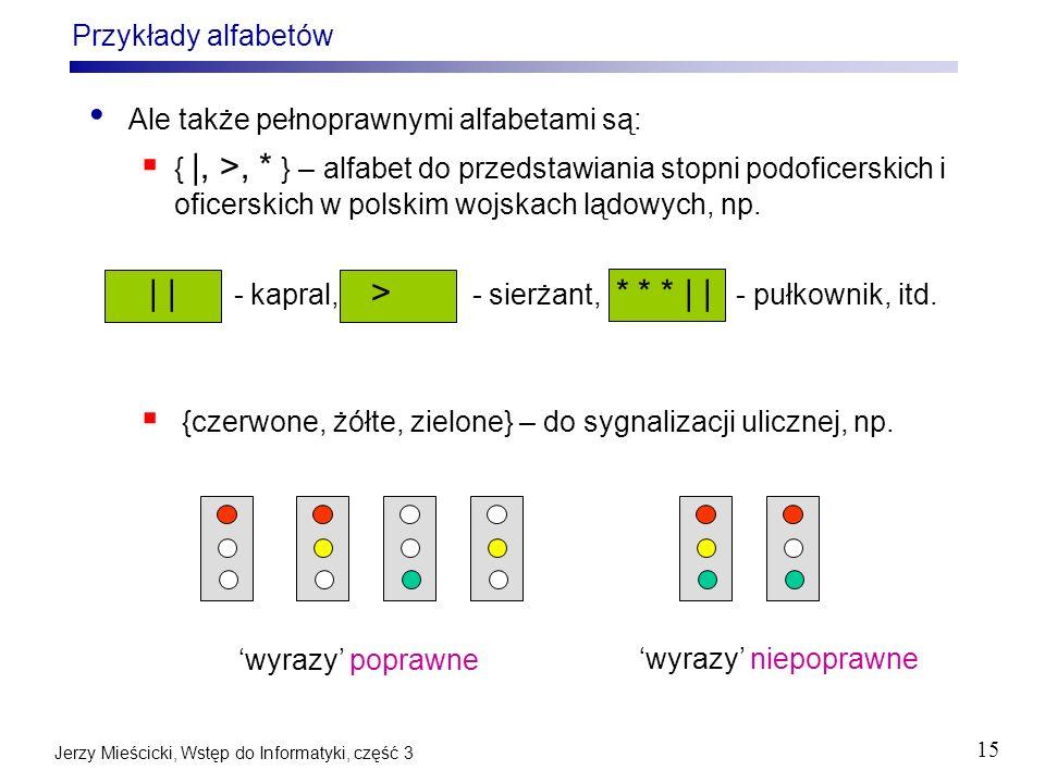 Ale także pełnoprawnymi alfabetami są: