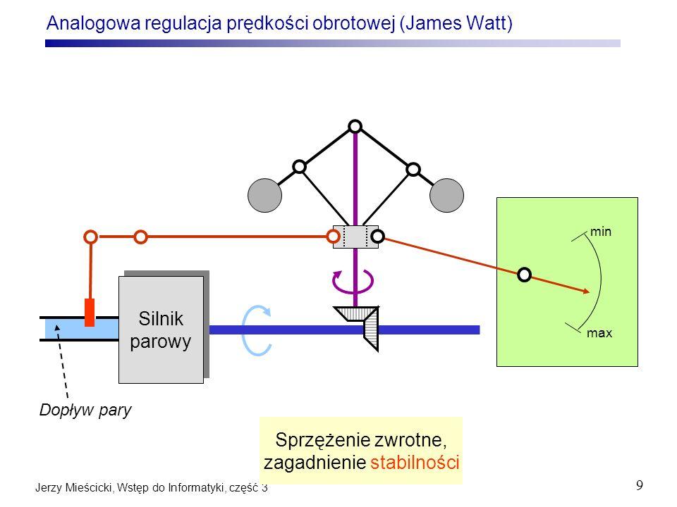 Analogowa regulacja prędkości obrotowej (James Watt)