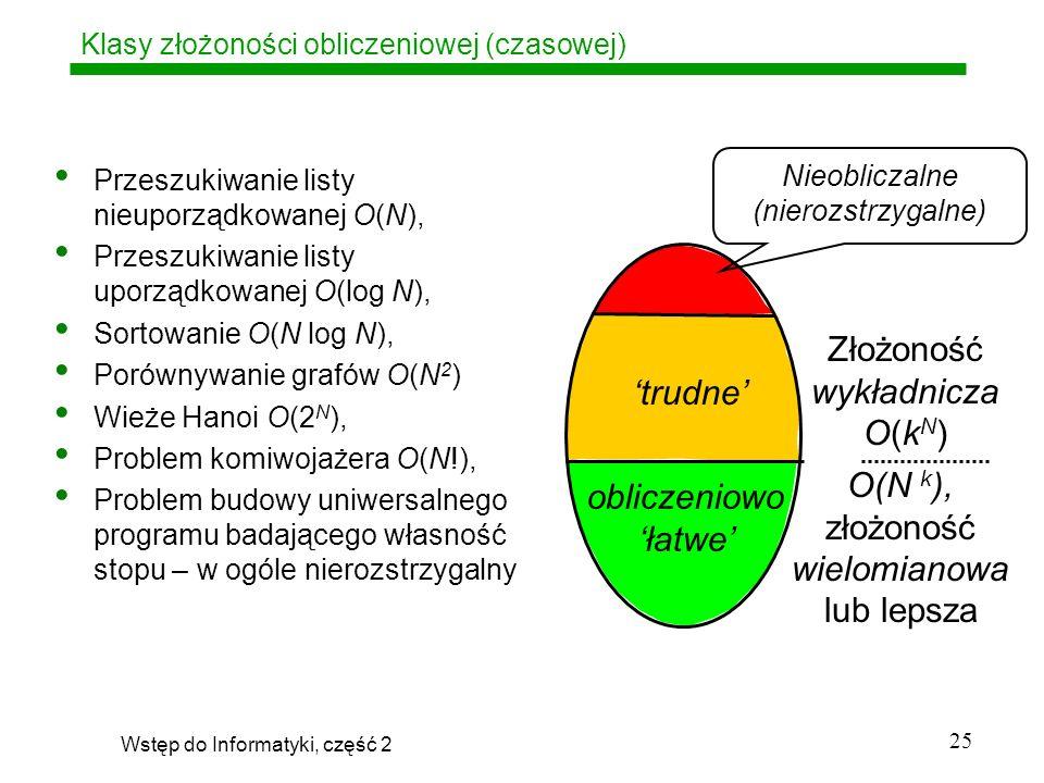 Klasy złożoności obliczeniowej (czasowej)