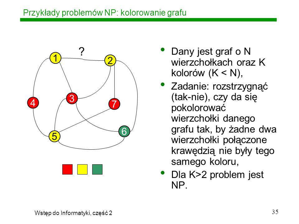 Przykłady problemów NP: kolorowanie grafu