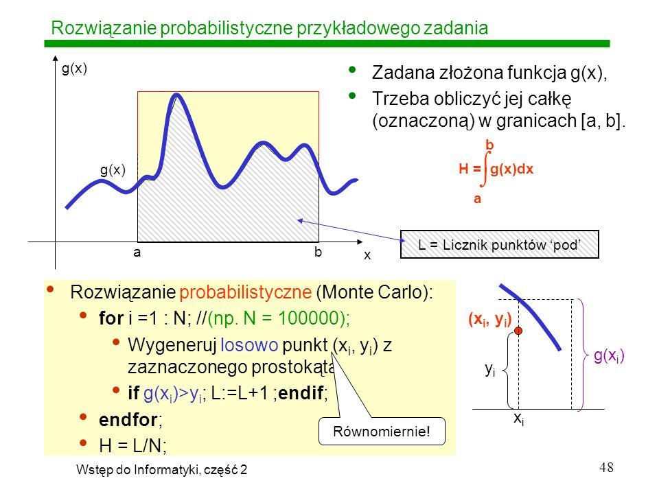 Rozwiązanie probabilistyczne przykładowego zadania