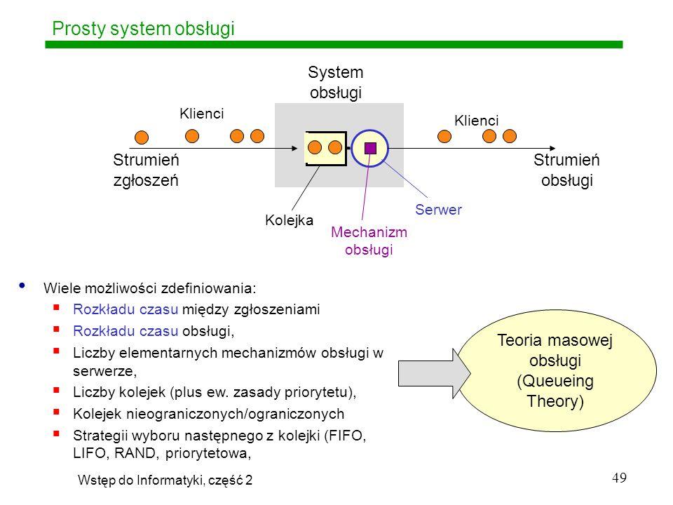 Prosty system obsługi System obsługi Strumień zgłoszeń