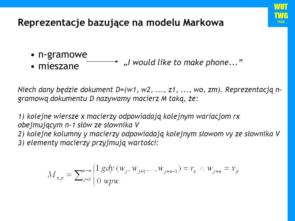 Reprezentacje bazujące na modelu Markowa