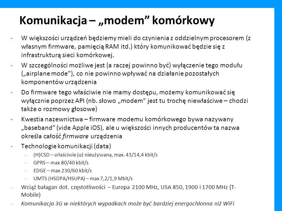 """Komunikacja – """"modem komórkowy"""
