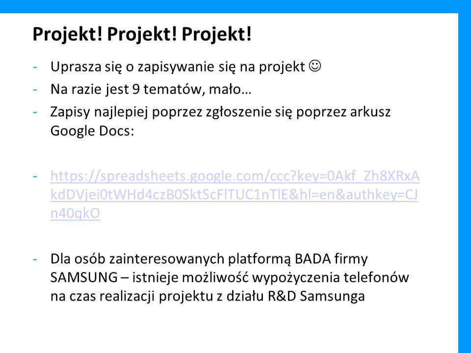 Projekt! Projekt! Projekt!