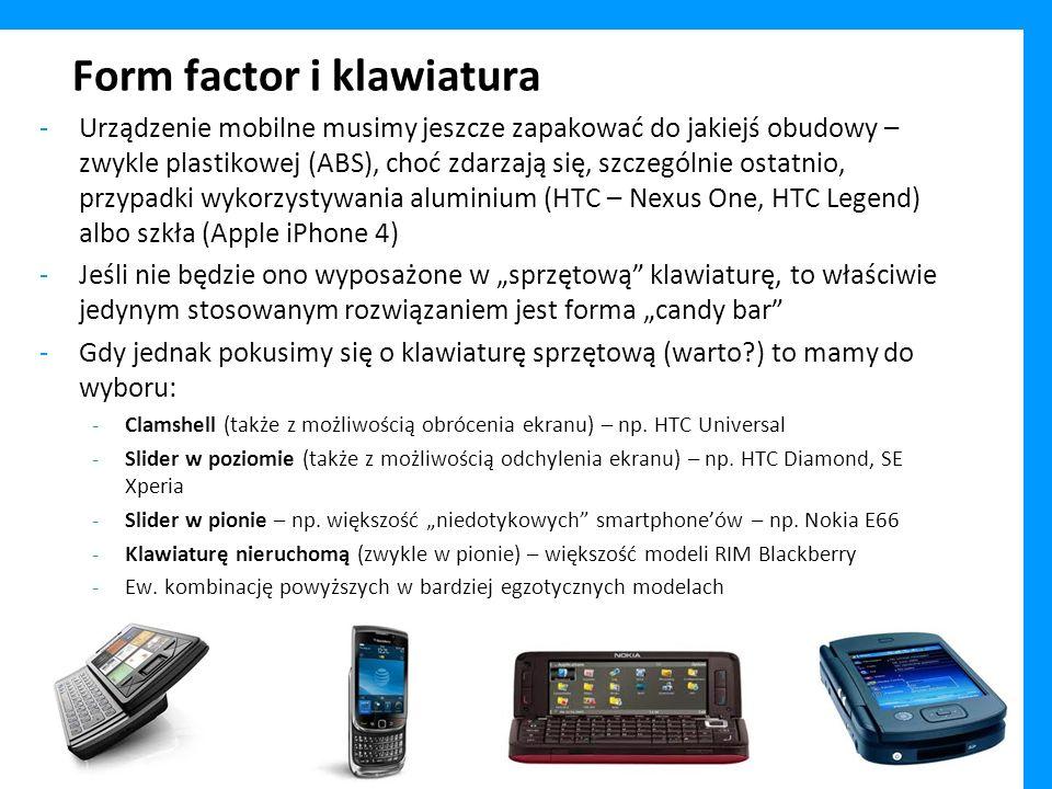 Form factor i klawiatura