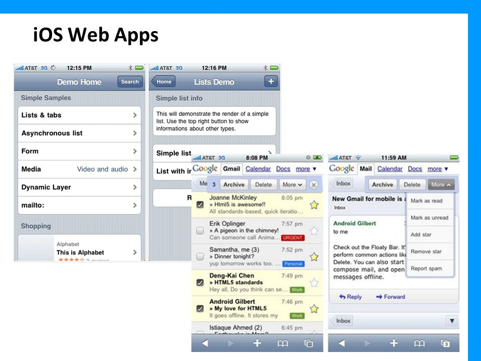 iOS Web Apps