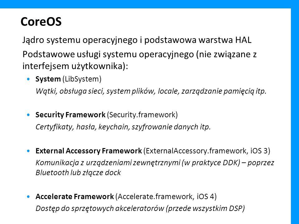 CoreOS Jądro systemu operacyjnego i podstawowa warstwa HAL