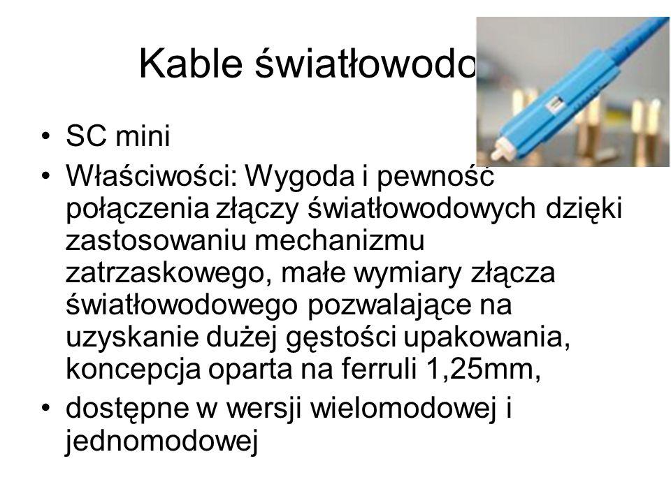 Kable światłowodowe SC mini