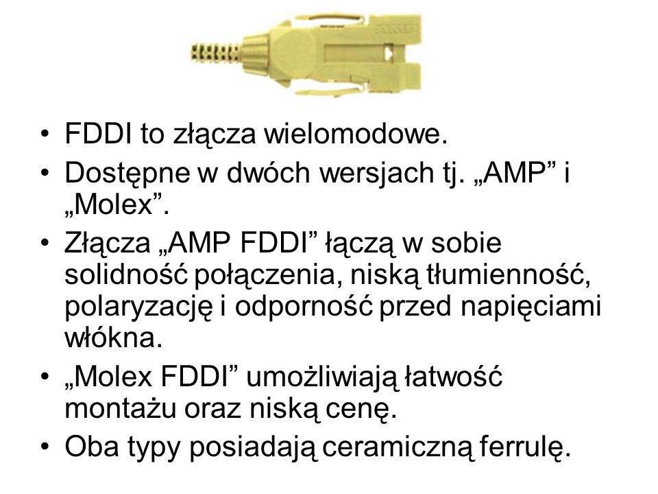 FDDI to złącza wielomodowe.