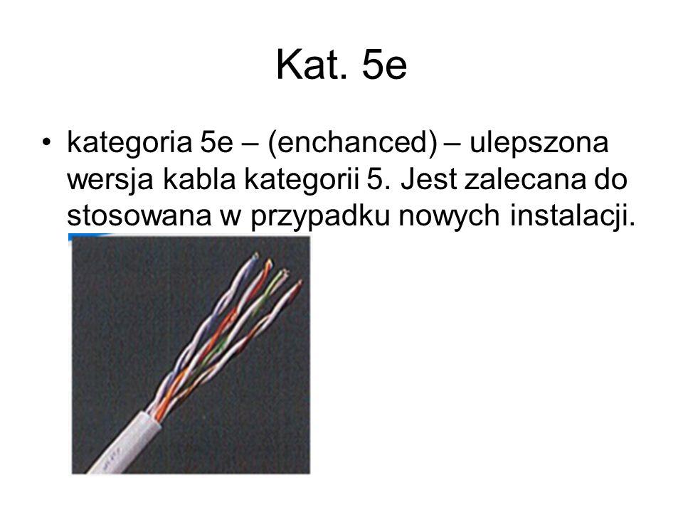 Kat.5ekategoria 5e – (enchanced) – ulepszona wersja kabla kategorii 5.