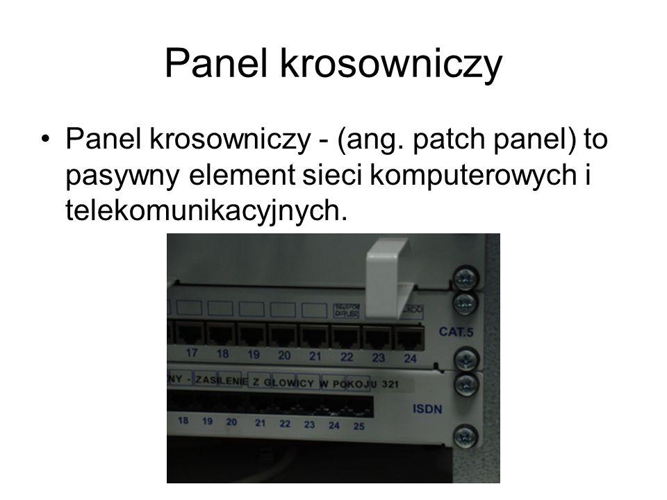Panel krosowniczyPanel krosowniczy - (ang.
