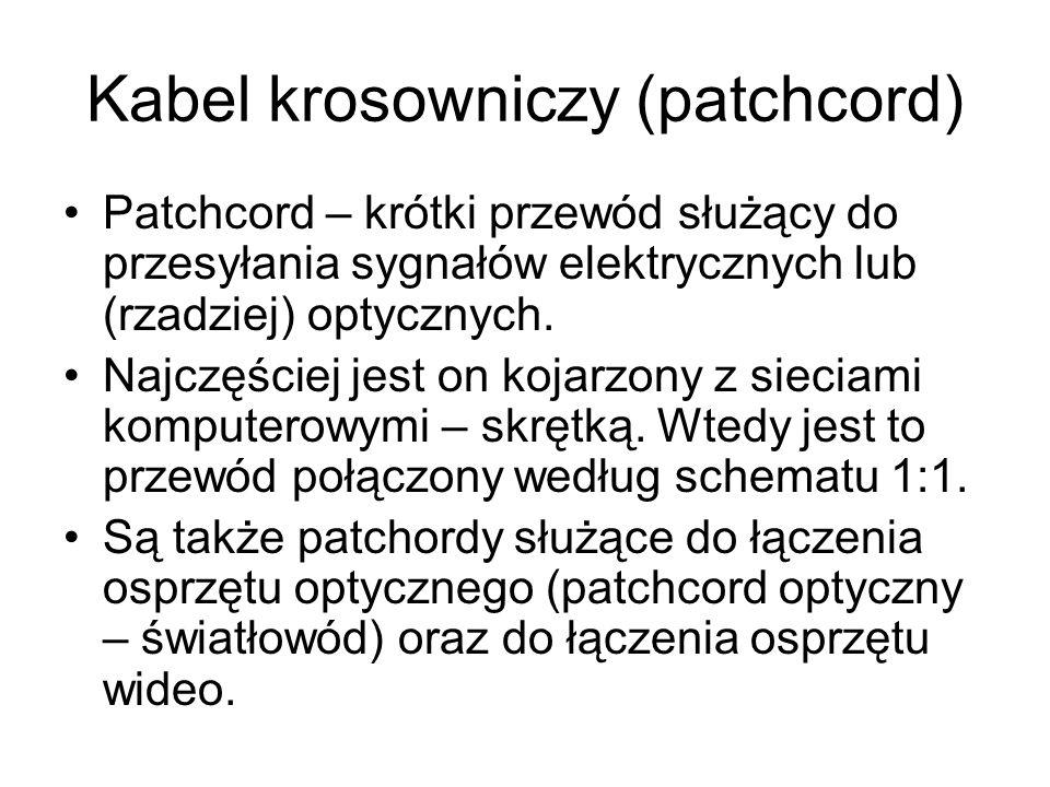 Kabel krosowniczy (patchcord)