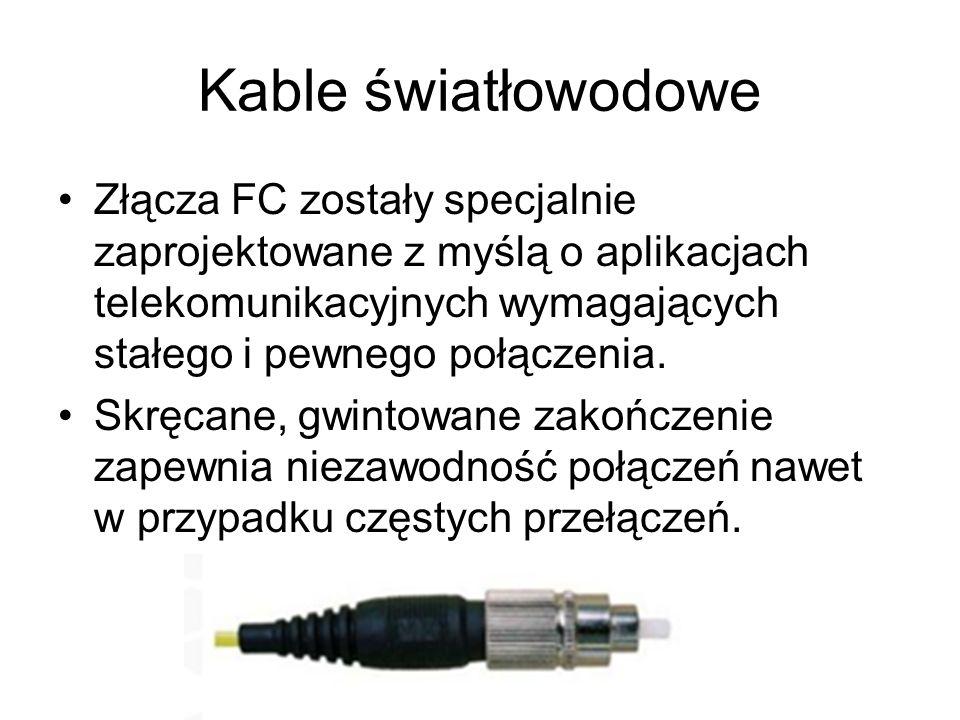 Kable światłowodowe Złącza FC zostały specjalnie zaprojektowane z myślą o aplikacjach telekomunikacyjnych wymagających stałego i pewnego połączenia.