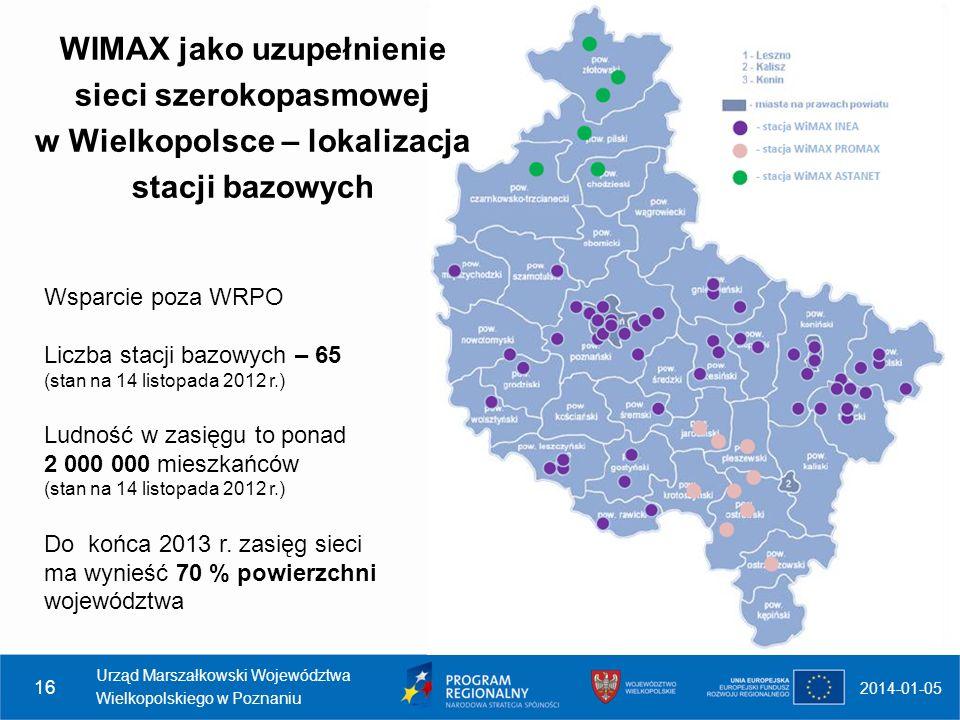 WIMAX jako uzupełnienie sieci szerokopasmowej w Wielkopolsce – lokalizacja stacji bazowych