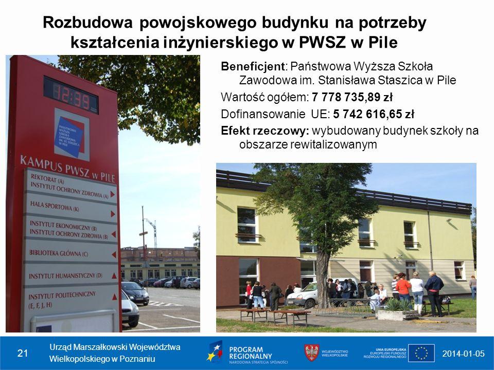 Rozbudowa powojskowego budynku na potrzeby kształcenia inżynierskiego w PWSZ w Pile