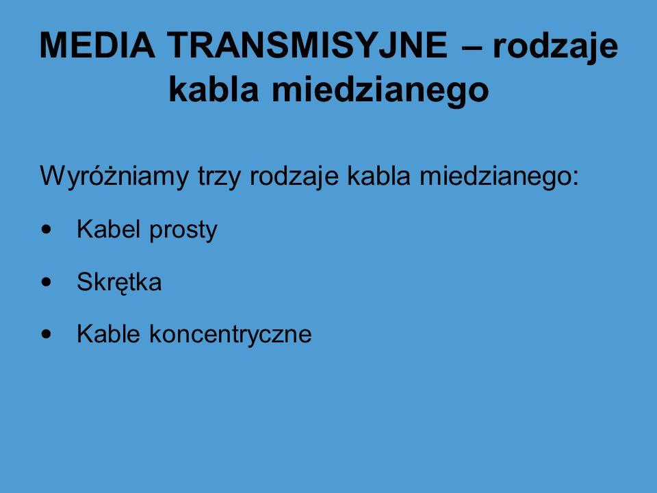 MEDIA TRANSMISYJNE – rodzaje kabla miedzianego