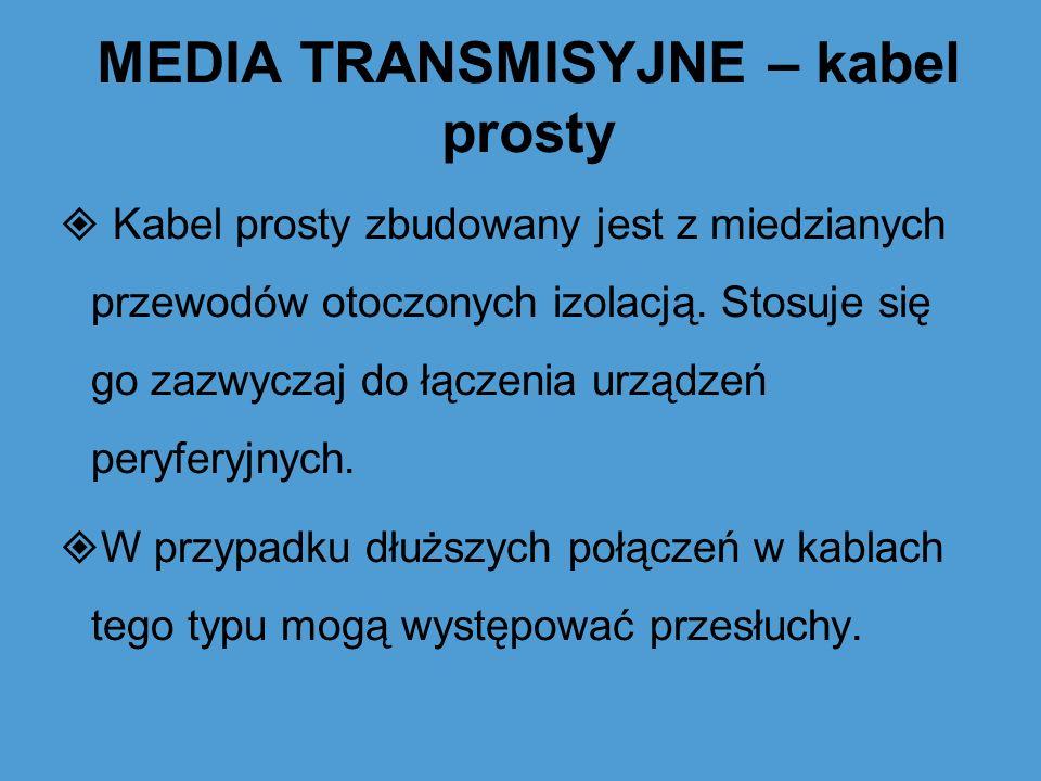 MEDIA TRANSMISYJNE – kabel prosty