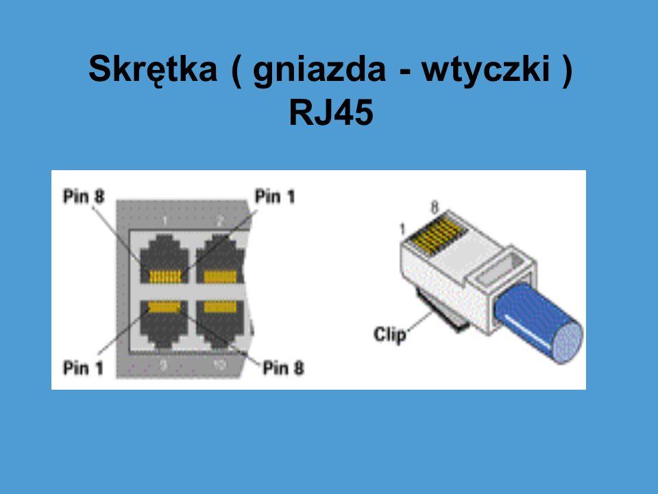 Skrętka ( gniazda - wtyczki ) RJ45