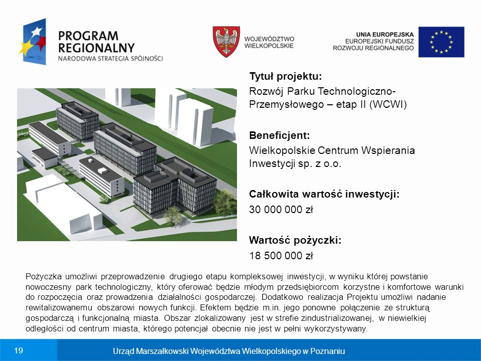 Rozwój Parku Technologiczno-Przemysłowego – etap II (WCWI)