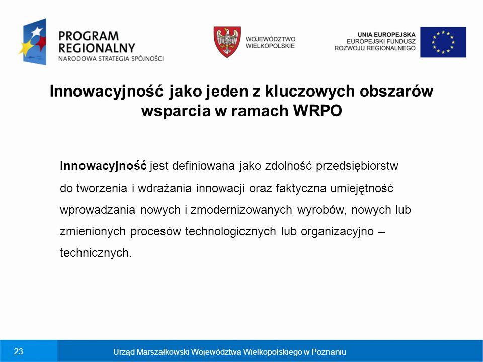 Innowacyjność jako jeden z kluczowych obszarów wsparcia w ramach WRPO