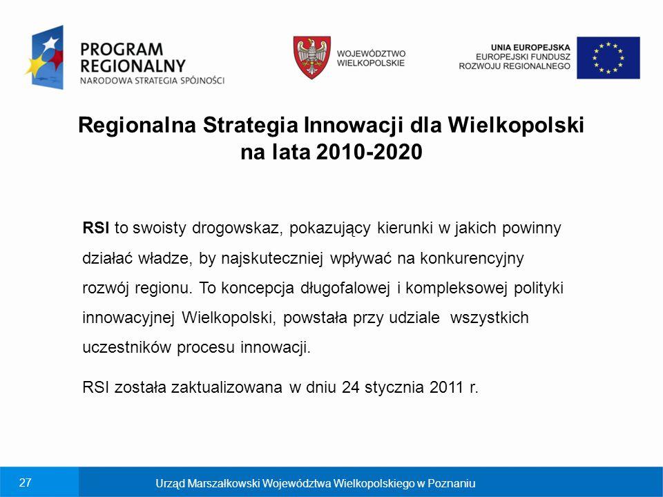 Regionalna Strategia Innowacji dla Wielkopolski na lata 2010-2020