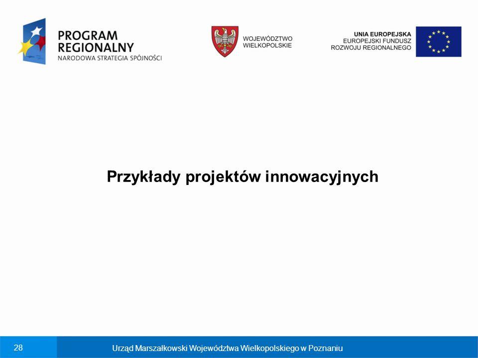 Przykłady projektów innowacyjnych