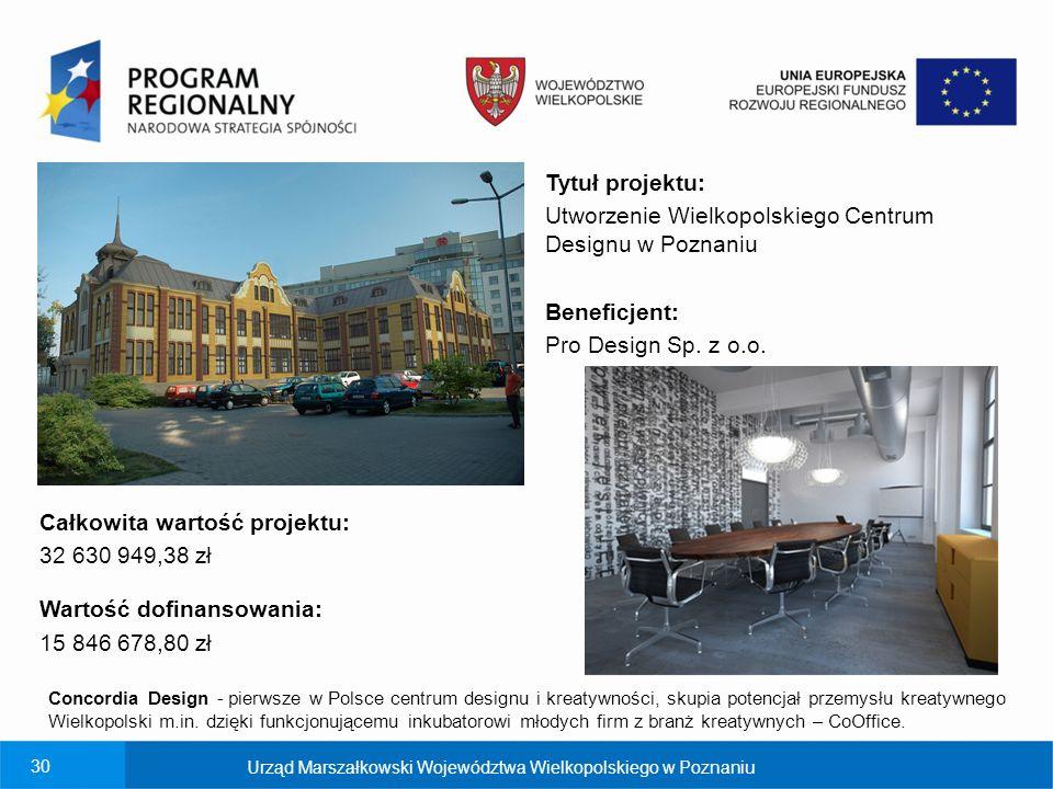 Utworzenie Wielkopolskiego Centrum Designu w Poznaniu