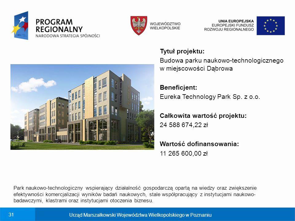 Budowa parku naukowo-technologicznego w miejscowości Dąbrowa