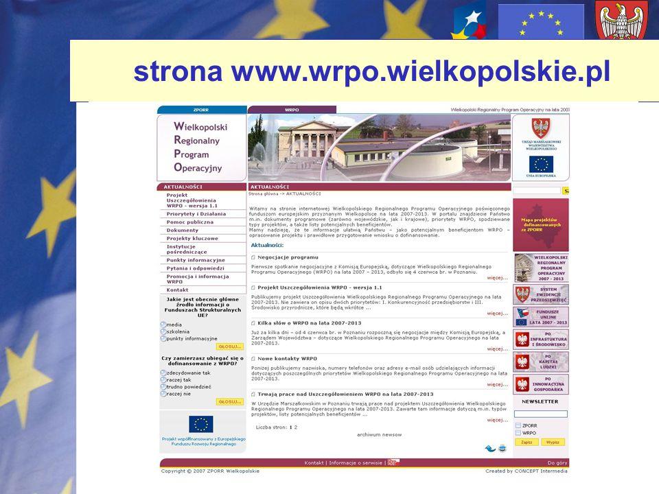 strona www.wrpo.wielkopolskie.pl